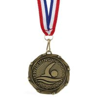 COMBO Swimming Medal with 10mm R/W/-AM1062.12